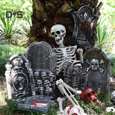 TOYMYTOY 4 PCS Halloween Foam Tombstone Scary Halloween Simulation Gravestones Decoration