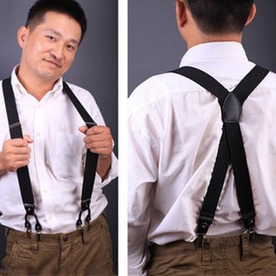 e6d1e8ac5 AY hombres cinturón de tirantes con cuadros ajustable 6 Clips correas para  espalda Y cinturón para