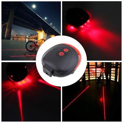 2f2b032a0e7 Cycling Bicycle Accessories Safety Warning Red Beam Light Bike Tail Lamp 5  LED 2 Laser