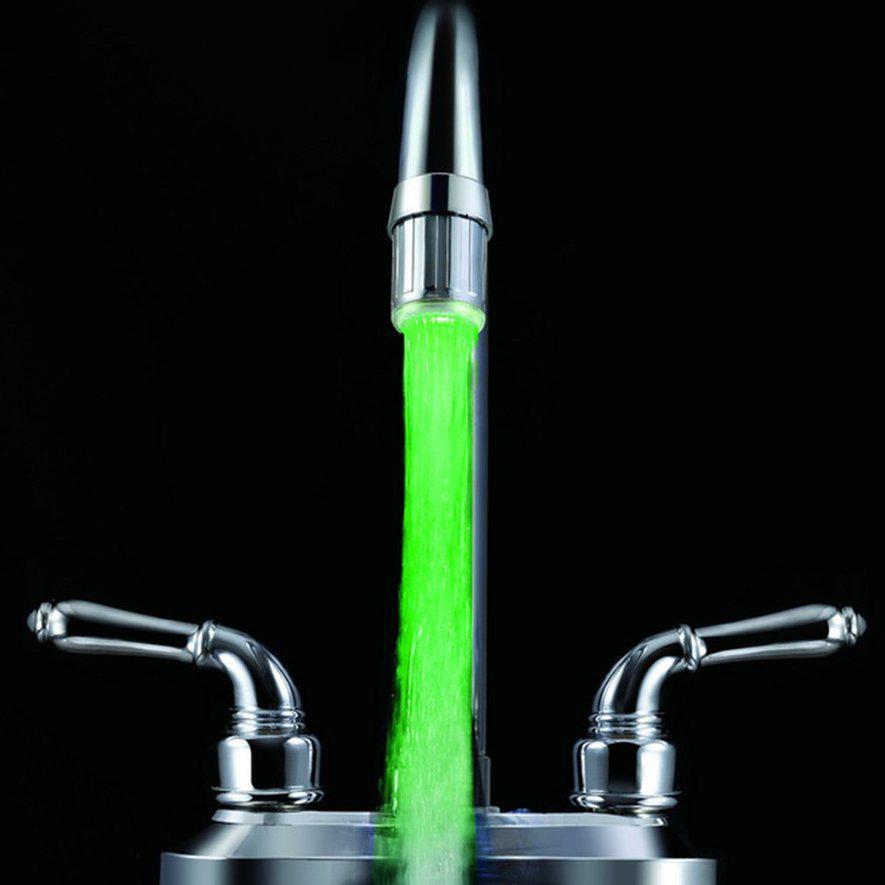 7 Цвет светодиодный свет Изменение смеситель водопроводной воды Датчик воды Датчик воды Faucet Aha – купить по низким ценам в интернет-магазине Joom