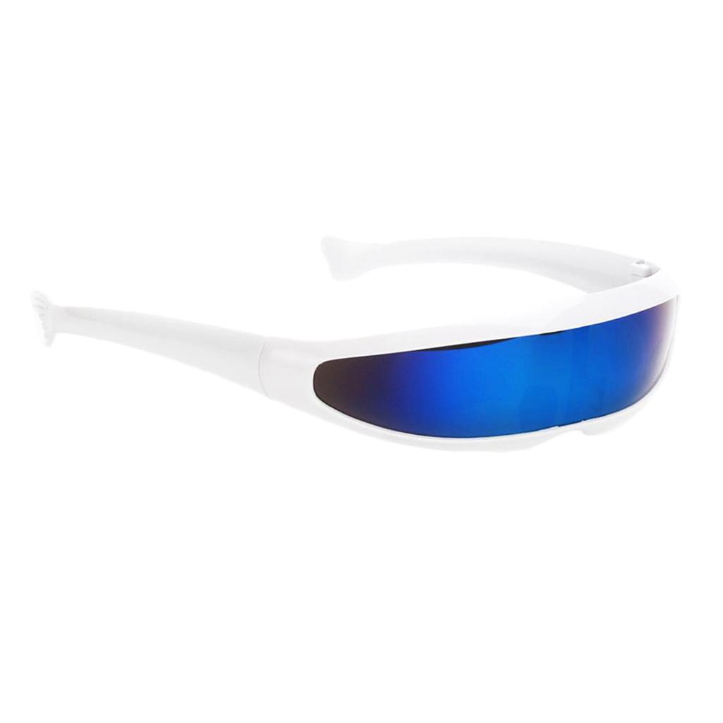 Anti UV Funny Futuristic Narrow  Space Robot Color Sunglasses
