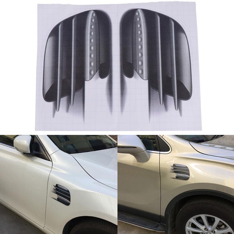 3D Auto Auto Fahrzeug Fake Side Air Vents Outlet Dekorative Auto Aufkleber D CL