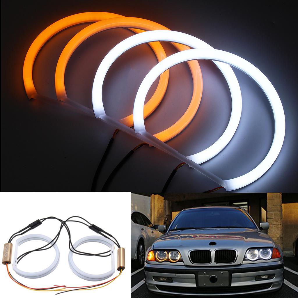 4X Angel Eye Halo Ring Light CCFL Headlight Lamp For 3 1990-2000 Xenon White