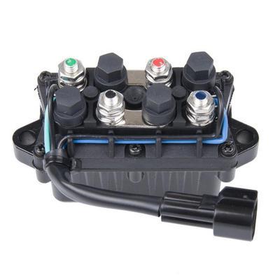 12V 400A Electric Winch Solenoid Relay Rocker Switch w// Caps Truck Black Metal