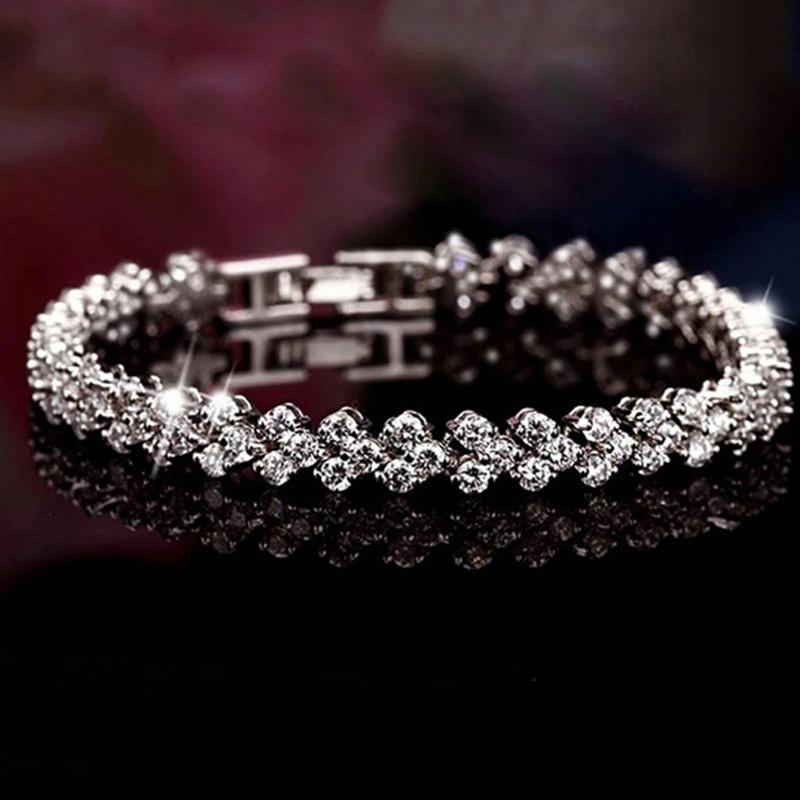 Женщина моды кристалла алмаза Браслеты Романтические Подарки фото