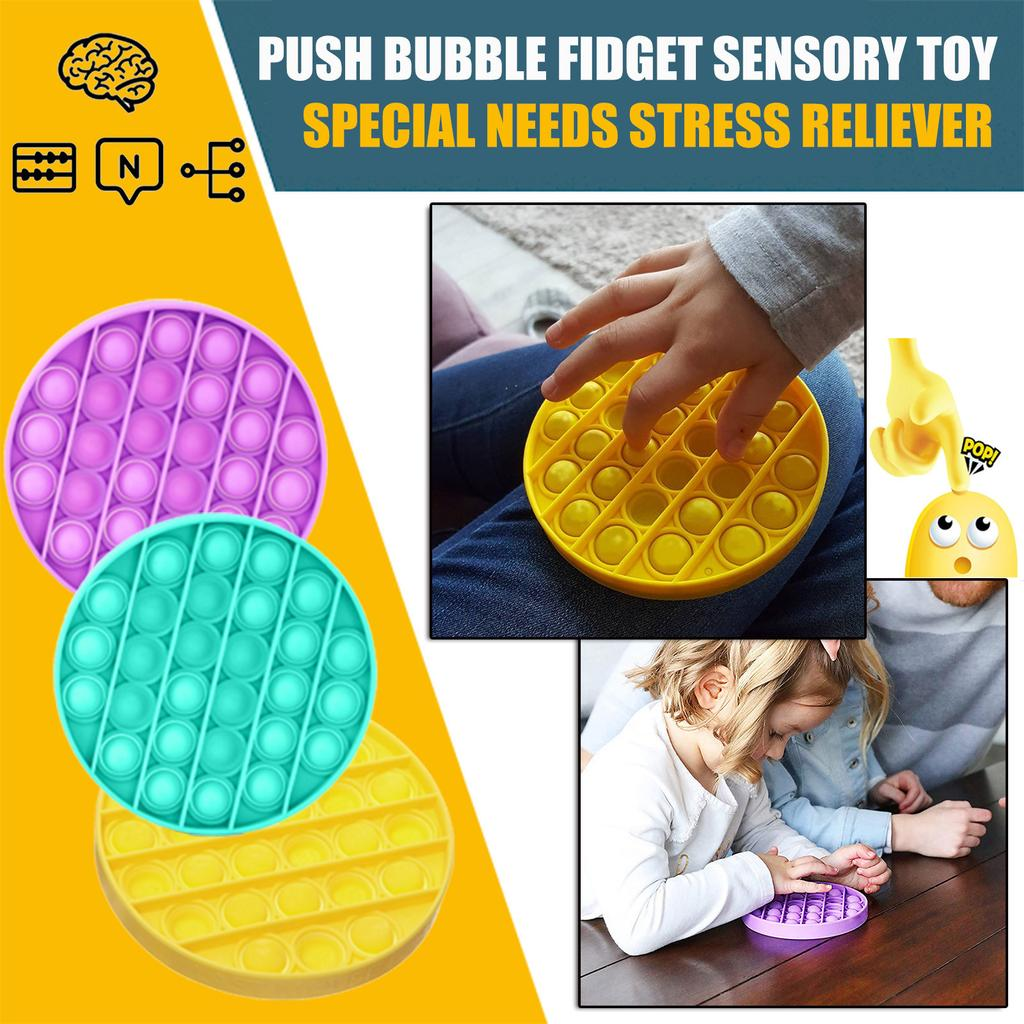 Irritability and Anti-Anxiety Suitable for Men Women Relieve Stress Bubble Sensory Fidget Toy,Push Bubble Tabletop Toys Gift White
