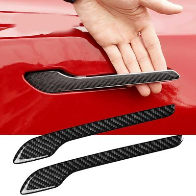 2XCar Black Bumper Anti-rub Strips Exterior Scratches Protector Decoration Strip