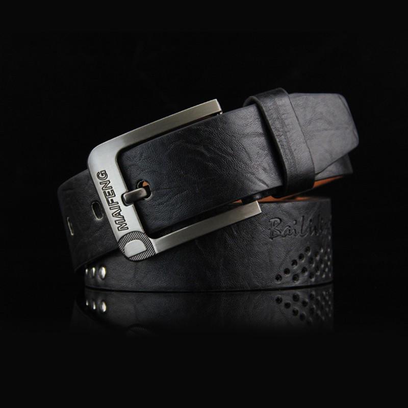 Mens Belt Leather Pin Buckle Belt Youth Belt Leisure All-purpose Belt