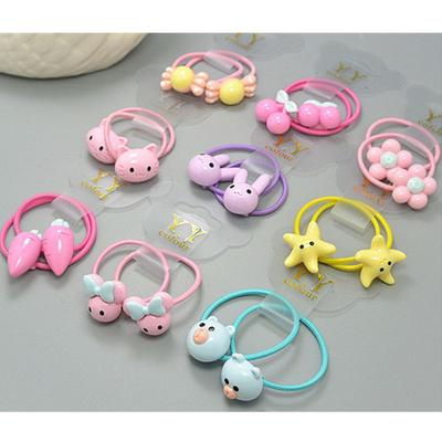 2PCS Mixed Cartoon Design Resin Hair Clip Accessories For Girls Babies 1 Set