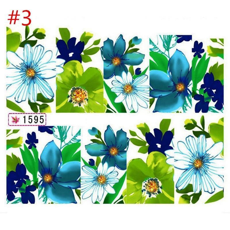 Láminas de flores brillan uñas envolturas etiquetas etiquetas de ...