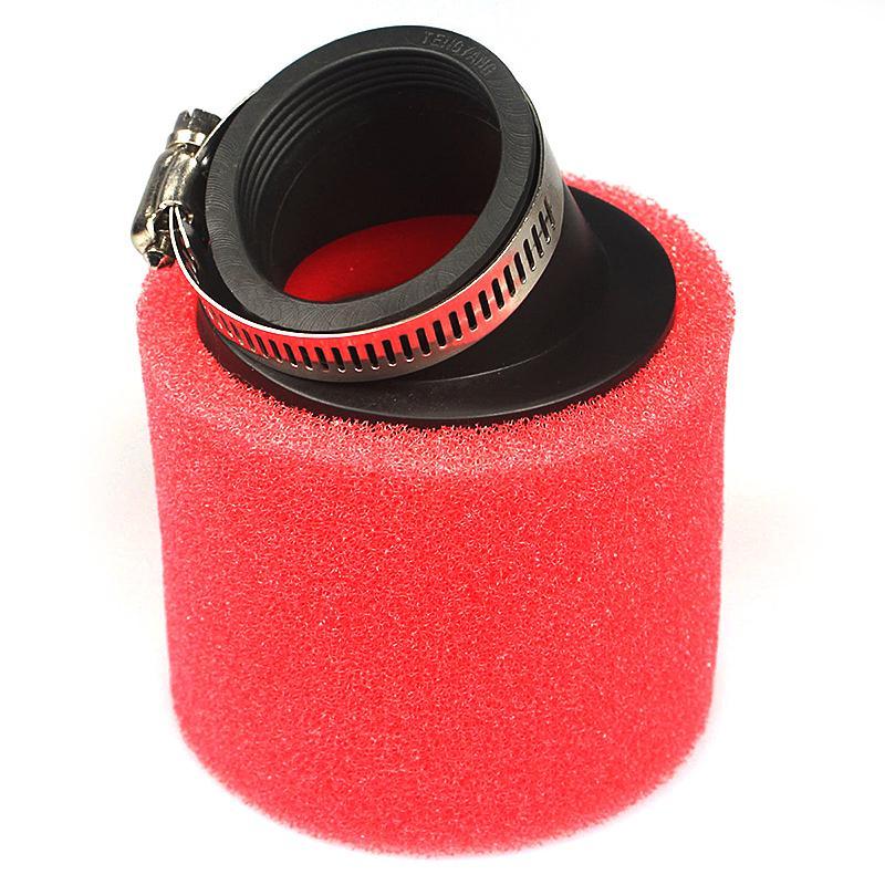 Atv Parts & Accessories Red 38mm Bent Angled Foam Air Filter Pod 125cc Pit Quad Dirt Bike Atv Buggy
