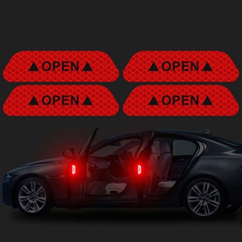 2pcs//pack Night Driving Reflective Tape Vehicle Warning Mark Car Sticker Body