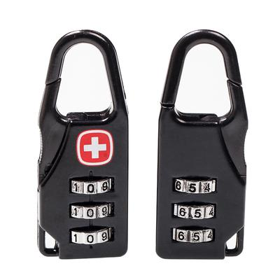 Luggage Carabiner,3Colors Travel Bag Luggage Security Combination Lock Locking Carabiner Padlock