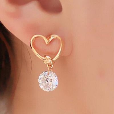 Women Ear Jewelry Heart Shaped Earrings Eardrop Stud Earring Gifts