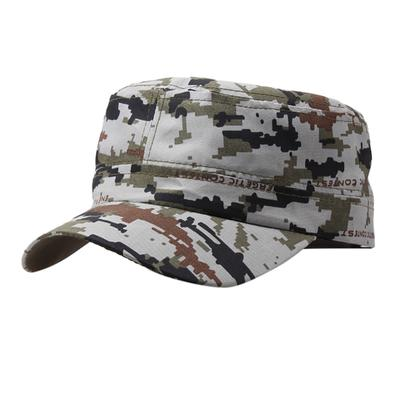 13525959845 Outdoor Camo Tactical Plain Vintage Army Military Cadet Style Cap Hat  Adjustable