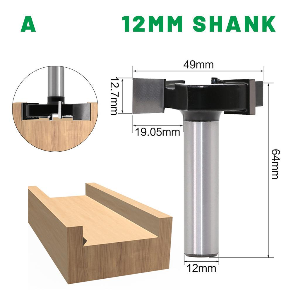 8mm Shank T Shape Groove Router Bit Wood Milling Saw Cutter Woodworking Tool