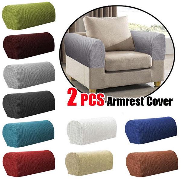 Armrest Covers Stretchy Piece Set Chair, Chair Arm Covers