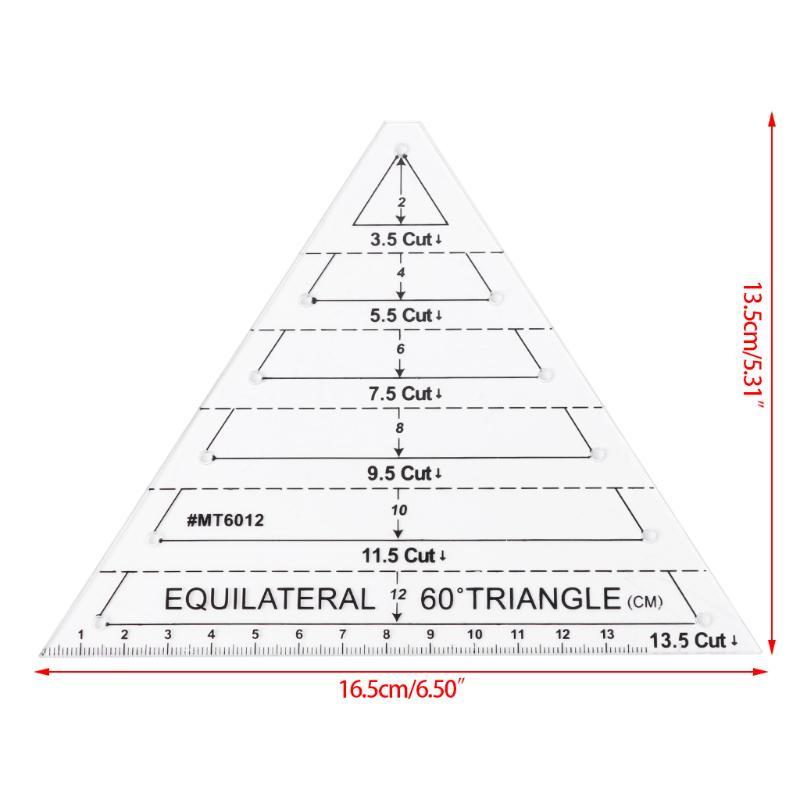60 Grad DIY Nähen Handwerk Werkzeug gleichseitiges Dreieck Quilten ...