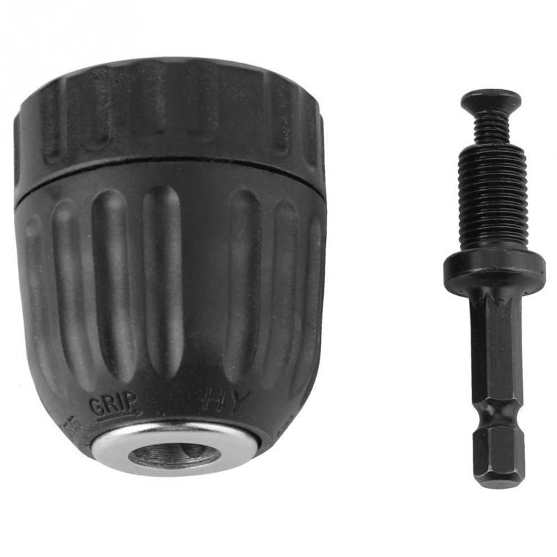 NEW 10-13mm Self-locking Keyless Chuck Impact Hammer Drill Bit Conversion Holder
