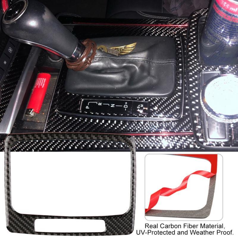 Gear Shift Panel Trim,Carbon Fiber Gear Shift Panel Trim Cover for Mercedes W204 2005-2012
