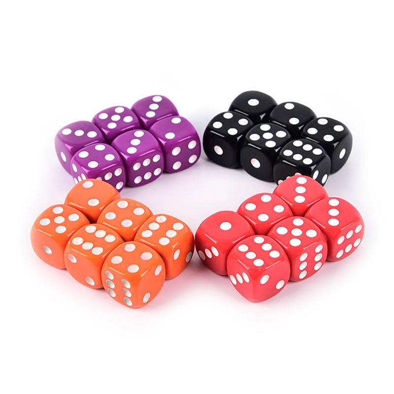 6 SIDED /& 15mm SIDES !! PACK OF 12 OPAQUE RED DICE