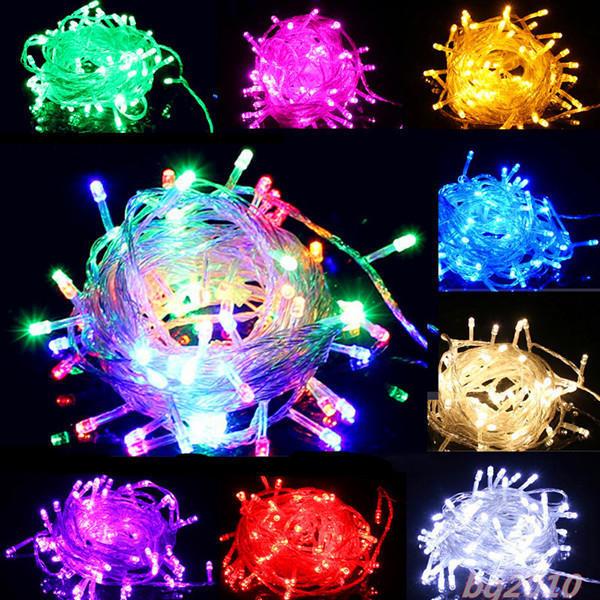 满天星灯串LED装饰灯星星灯防水灯珠高亮高质闪光市电100led灯串