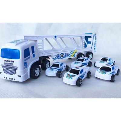 1 Set Unisex Double Trumpet Truck w// Mini Police Cars 2-4 Ages Children Kid Toy