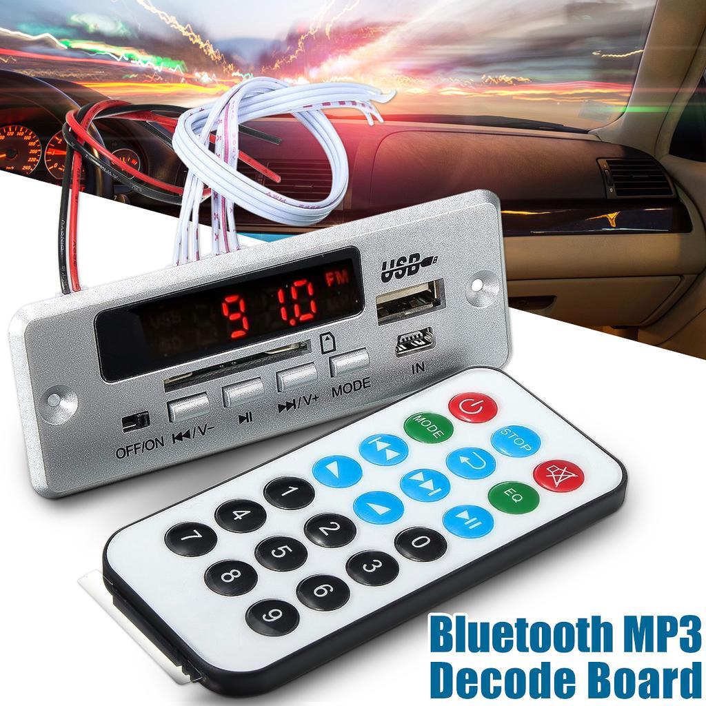Digital Car Bluetooth 12v 5v Wma Mp3 Fm Decoder Board Audio Module Circuit Buy Receiver Boardfm 2 Of 11