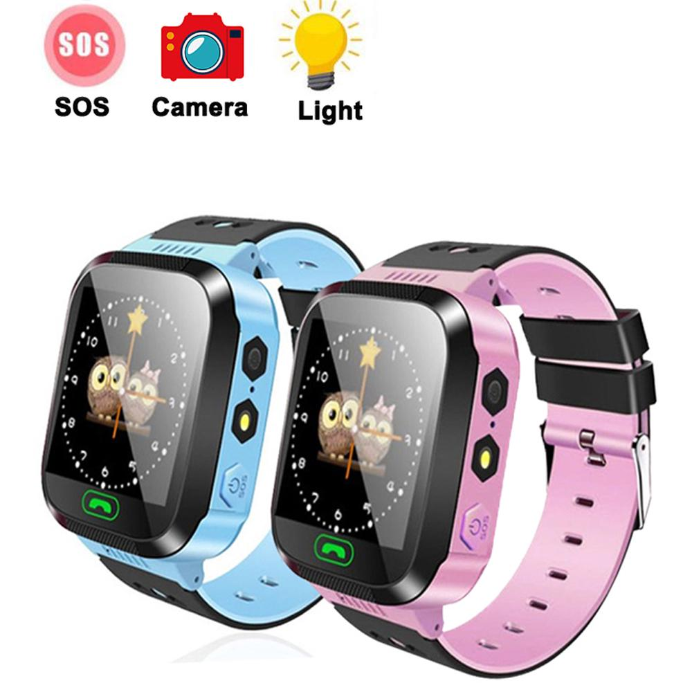 Q02 Kids Smart Watch Camera Lighting SOS Anti-lost Traker Baby Safe LBS  Tracking Location Finder