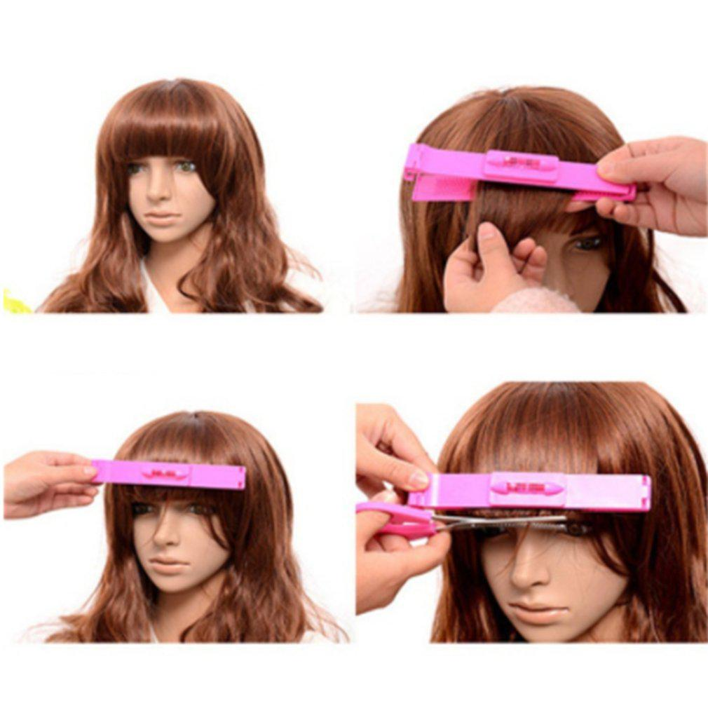 Hair Care & Styling Braid Maintenance New Women Hair Trimmer Fringe Cut Tool Clipper Comb Guide For Cute Hair Bang Level Ruler Hair Accessories #30 Elegant Shape