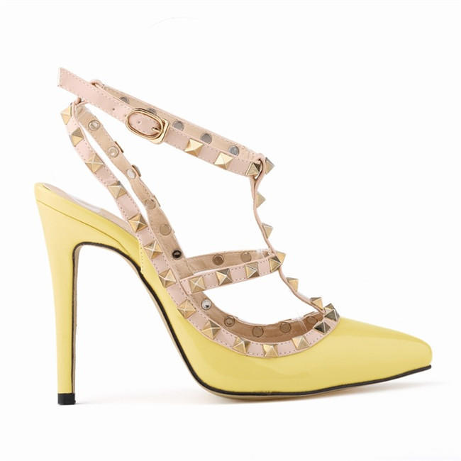 Summer Women High Heels Rivets Stitching Shoes Sexy Pointed Toe Sandals 11  cm-buy at a low prices on Joom e-commerce platform e73e6db7e669