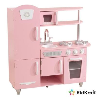 Buy Kidkraft Pink Retro Kitchen And Refrigerator Play Set At Affordable Price From 10 Usd Best Prices Fast Free Shipping Joom