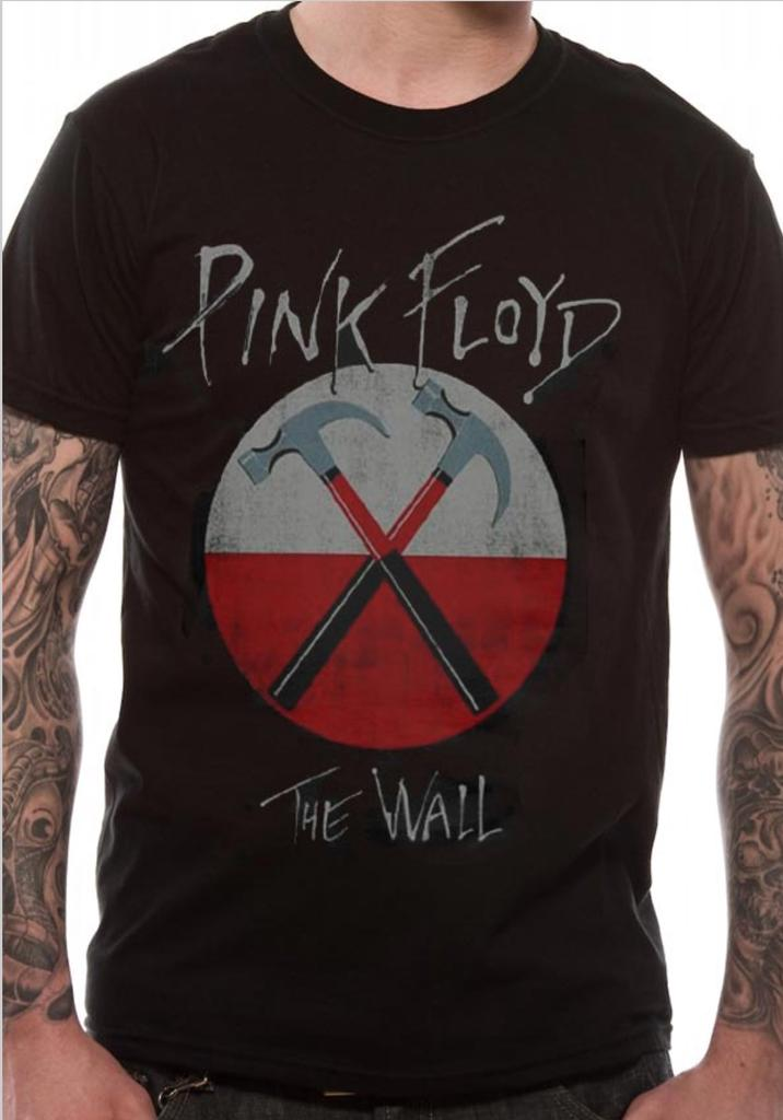 Pink Floyd Mens T-Shirt The Wall Oversized Hammers