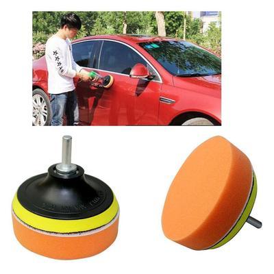 4Pcs 4/'/' Gross Polish Polishing Buffer Pad Kit Drill Adapter For Car Polisher