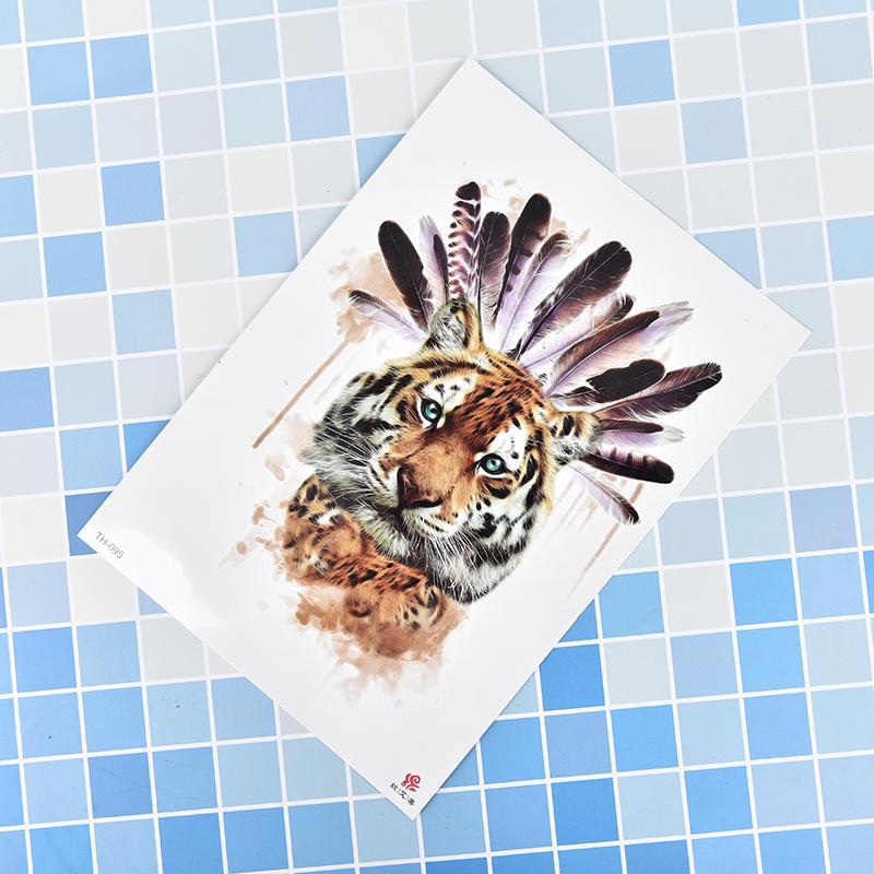 Tygrys Tymczasowe Tatuaż Naklejki Wodoodporne Kobiety Fałszywe Ręcznie Zwierzę Tatuaże Dla Dorosłych