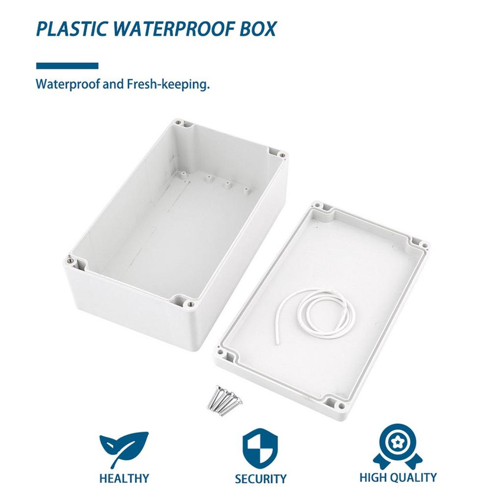 """L X W X H Hot Plastic Waterproof Project Box Enclosure 7.87/"""" X 4.72/"""" X 2.95/"""""""