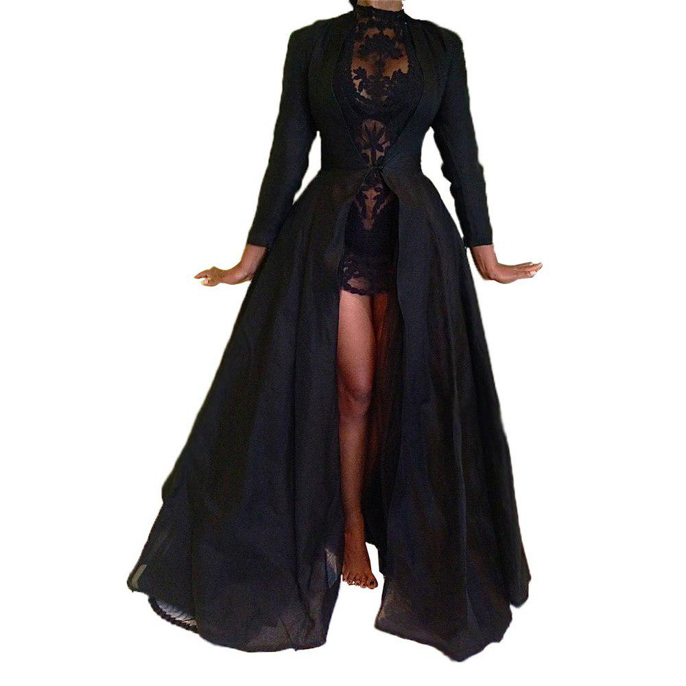 1pc Gothic Punk Cloak Evil Witch Hooded Lace Cape Halloween Cosplay Costume