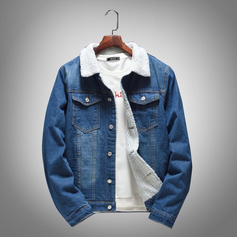 New Men/'s fashion Denim jacket hooded jacket short casual cowboy jackets coat