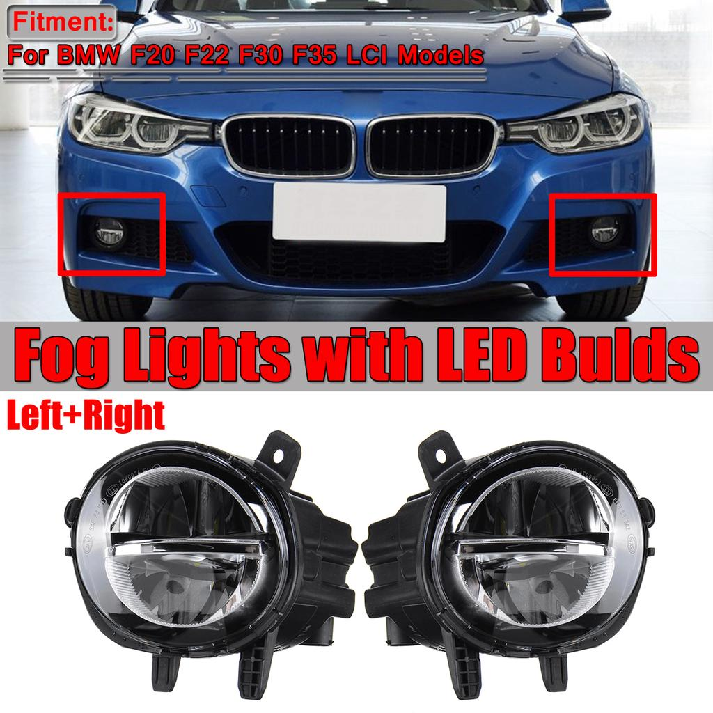 Right Pair LED Fog Light Lamp For BMW F20 F22 F30 F35 LCI 1 2 3 4 Series Left