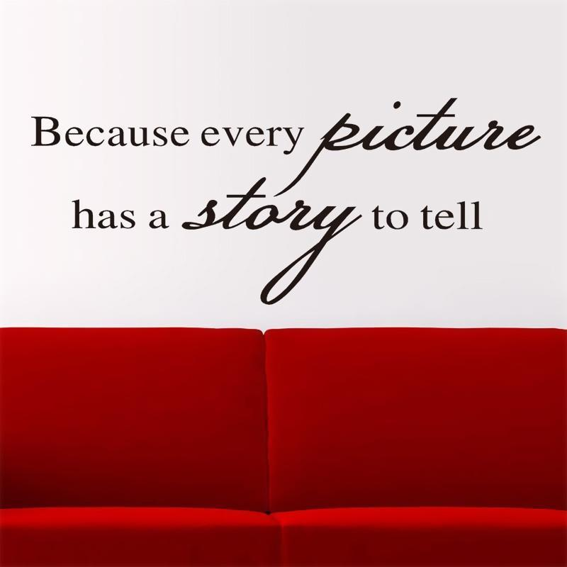 Because Every Picture Has A Story To Tell Wall Decal Vinyl Decor