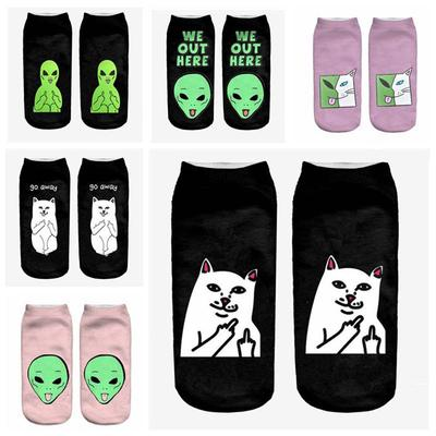 Cat And Avocado Unisex Funny Casual Crew Socks Athletic Socks For Boys Girls Kids Teenagers