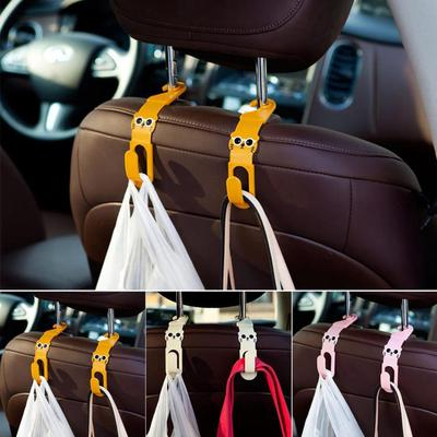 1pcs Auto Car Back Seat Phone Holder Stand Headrest Hanger Hooks Clips for Bag Purse Cloth Grocery Automobile Interior Accessories