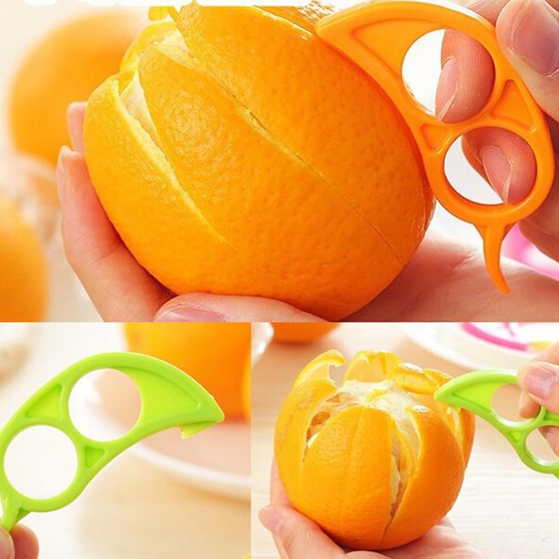 5Pcs Citrus Fruit Slicer Orange Lemon Cutter Peeler Opener Plastic Remover