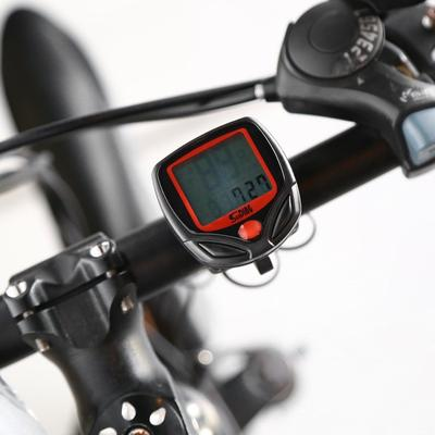 Bicycle Computer Water Resistant Cycling Bike Odometer Speedometer Stopwatch LCD