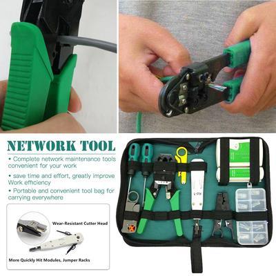 Network Ethernet LAN Cable Repair Tools RJ45 CAT5 CAT5e Crimping Pliers Set BP