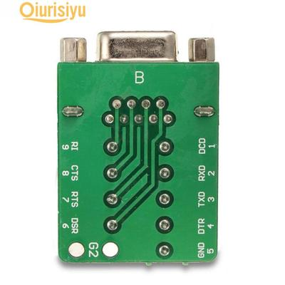 DB9 9-pin Female Adapter RS-232 Port Interface I//O Card Breakout Board Connector