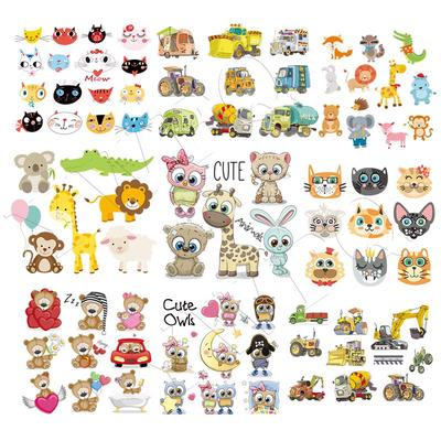 Iron On Patches Cute Animal Set Diy Accessory Fashion Heat Transfer Stickers Patches For Clothes