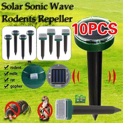 Solar Power Ultrasonic Animal Repeller for Outdoor Pest Bird Mouse Pest Repellent