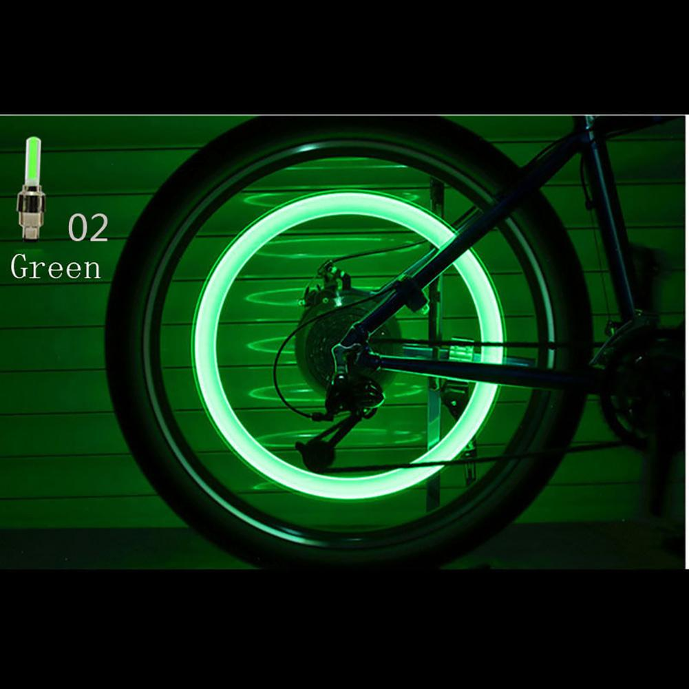 2PC 4 Colors Bike Bicycle Cycling Car Wheel Spoke Tire Wire Tyre LED Light Lamp