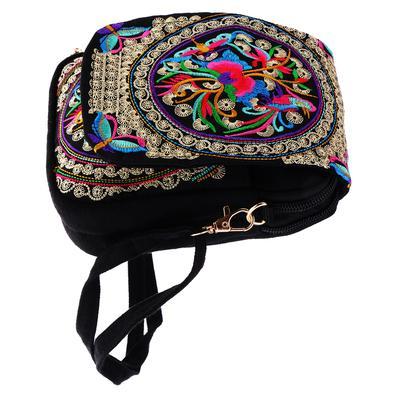 368990f645 Embroidery Travel Shoulder Bag Flower Design Handmade 20x14cm  1